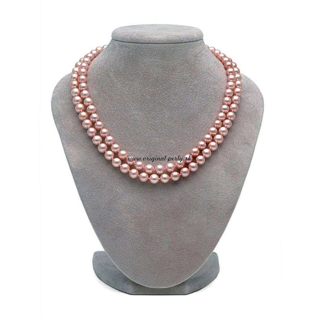 51d9ce6e5 Náhrdelník z ružových perál Glamour